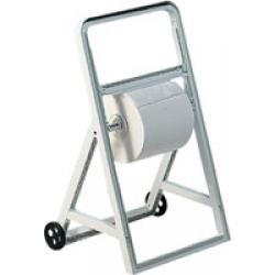 Cavalete para rolo industrial com rodas