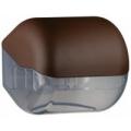 Suporte para papel higiênico em rolos ou em folhas - castanho