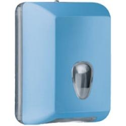 Suporte para papel higiênico interfolhas - azul