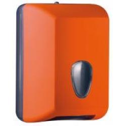 Suporte para papel higiênico interfolhas - laranja