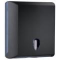 Toalheiro para papel de mãos interfolhas - preto