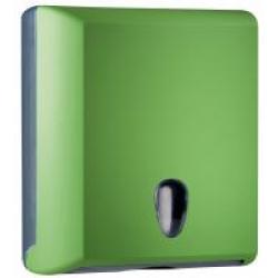 Toalheiro para papel de mãos interfolhas - verde
