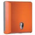 Toalheiro para papel de mãos interfolhas - laranja