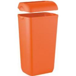 Cesto para papéis com tampa laranja 23L